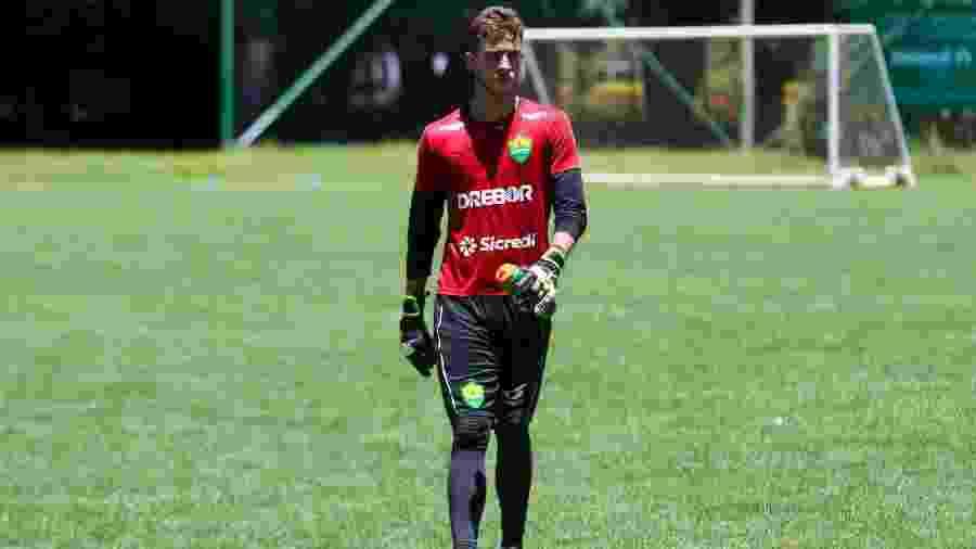 Vai e vem: O goleiro Eduardo Capellari, de 18 anos, foi um dos destaques do Cuiabá na Copa São Paulo - Divulgação/AssCom Dourado