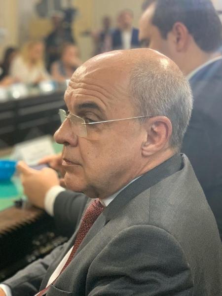 O ex-presidente Eduardo Bandeira de Mello na sessão da CPI do Ninho do Urubu  - Leo Burlá / UOL Esporte