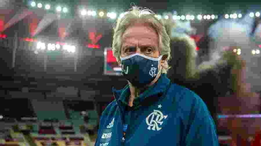 Jorge Jesus, do Flamengo, na decisão do Carioca contra o Fluminense - Marcelo Cortes/Flamengo