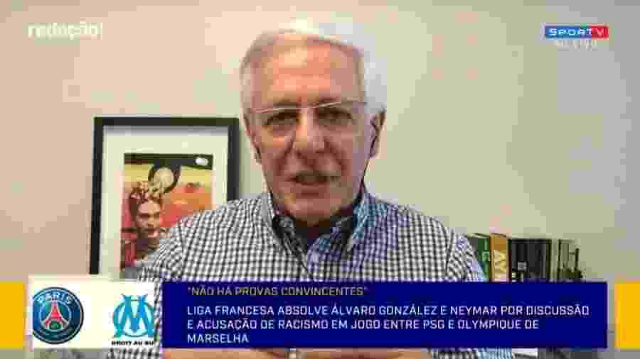 Milton Leite critica federação francesa por não punir Neymar e González - Reprodução/SporTV