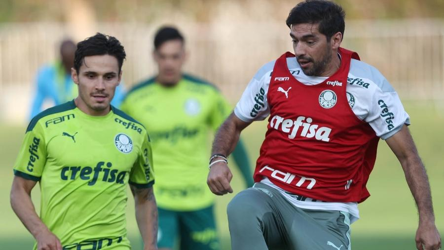 Abel Ferreira participa de treinamento do Palmeiras - Cesar Greco/Palmeiras