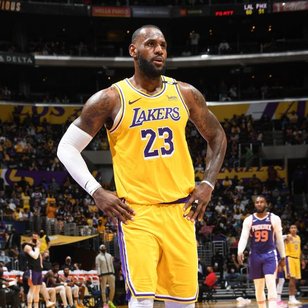 LeBron James, durante a derrota do Los Angeles Lakers para o Phoenix Suns