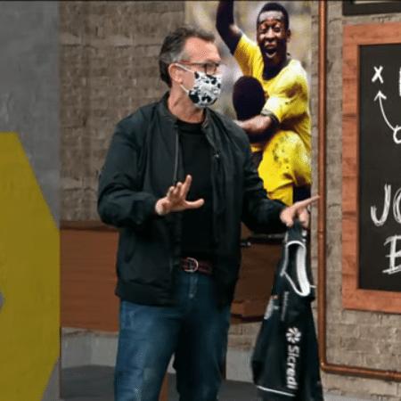 Neto fez parte do programa Os Donos da Bola usando uma máscara - Reprodução/TV Band