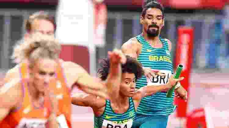 Revezamento 4x400m do Brasil bateu recorde sul-americano, mas ficou fora da final em Tóquio - Wagner Carmo/CBAt - Wagner Carmo/CBAt
