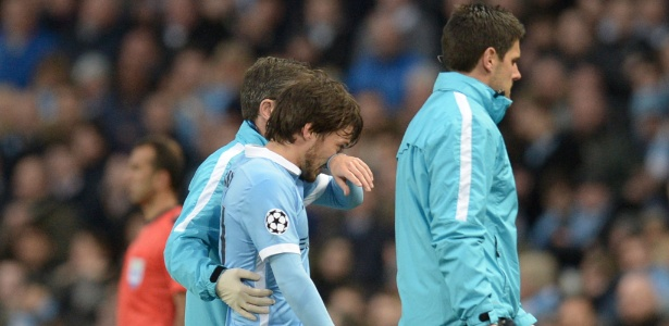 David Silva deixou o gramado no segundo tempo do jogo entre City e Real Madrid - Oli Scarf/AFP Photo