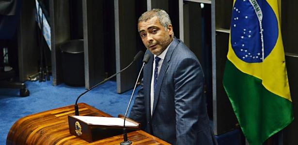 O senador Romário (PSB-RJ) voltou a negar o recebimento de caixa 2 via Odebrecht