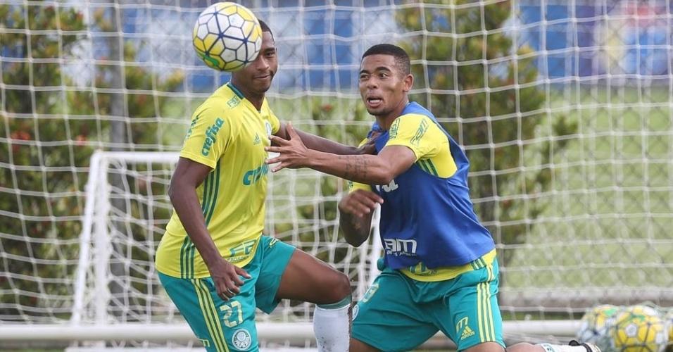 Gabriel Jesus Matheus Sales Palmeiras treino Toca da Raposa