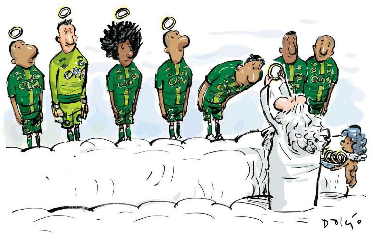Muitas homenagens foram postadas nas redes sociais para apoiar a Chapecoense após acidente