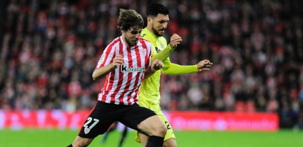 Yeray Alvarez em ação com a camisa do Athletic Bilbao