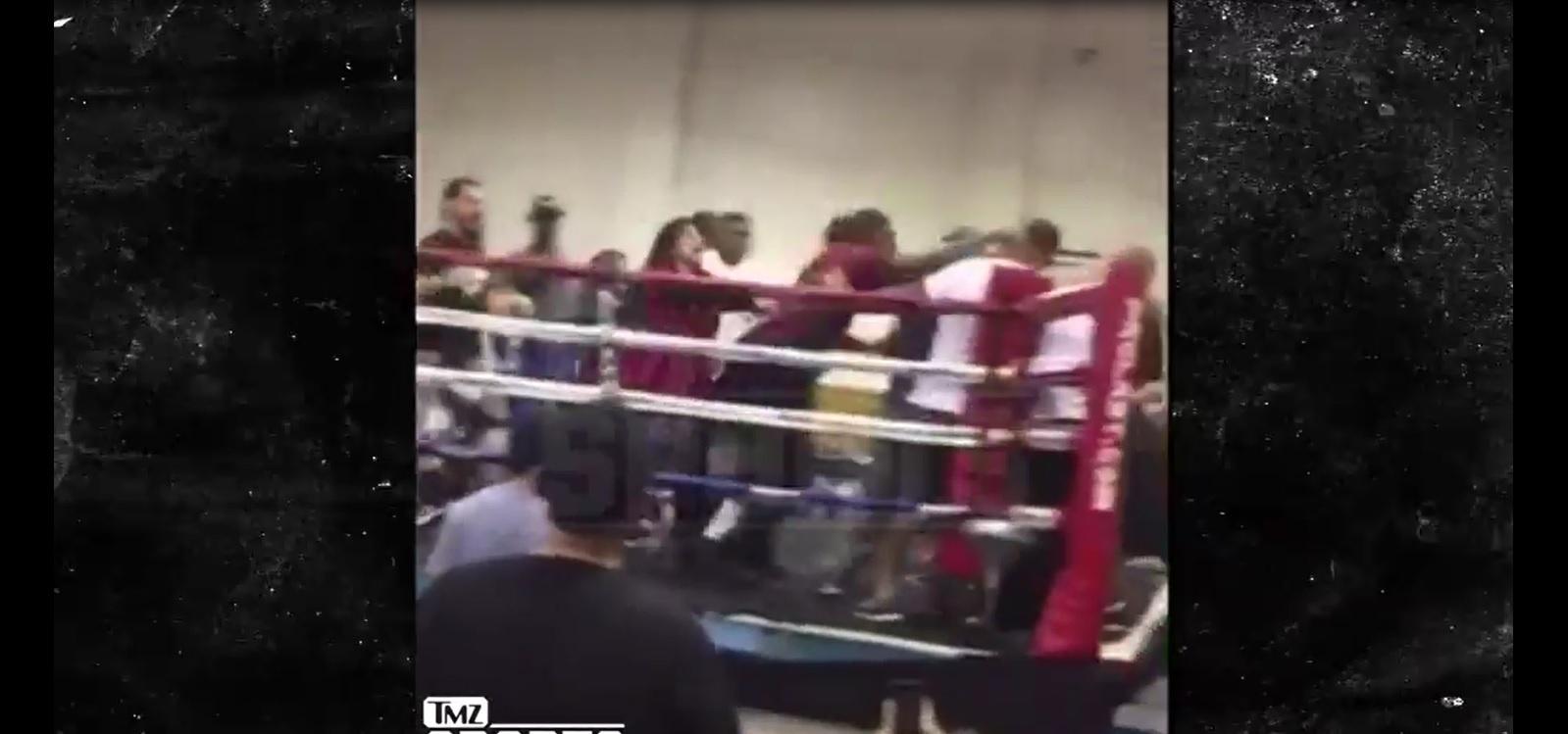 Evento de boxe amador realizado nos EUA termina em pancadaria