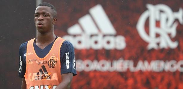 O jovem atacante Vinicius Júnior virou sinônimo de milhões nos cofres do Flamengo - Gilvan de Souza/ Flamengo