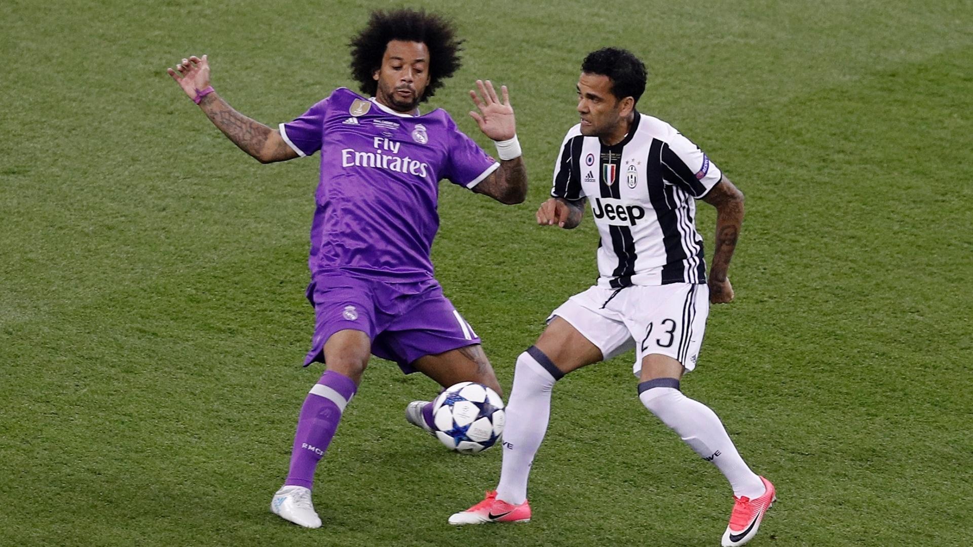 Daniel Alves e Marcelo, laterais da seleção, jogam a final da Liga dos Campeões entre Juventus e Real Madrid