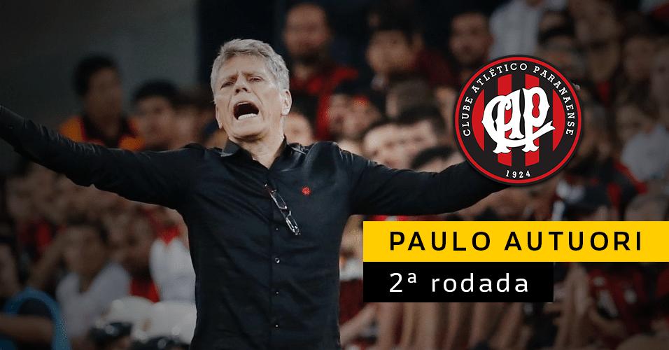 Paulo Autuori foi o primeiro técnico a deixar o cargo no Brasileirão 2017. Mas não foi demitido: na verdade, ele virou diretor de futebol do Atlético-PR, deixando a função de treinador para Eduardo Baptista
