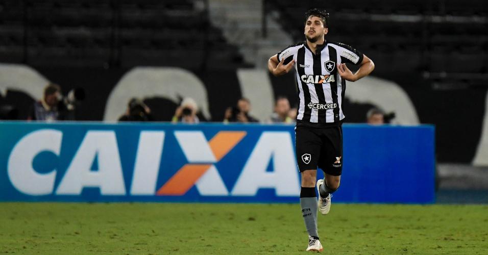 Igor Rabello comemora o segundo gol do Botafogo contra o Corinthians