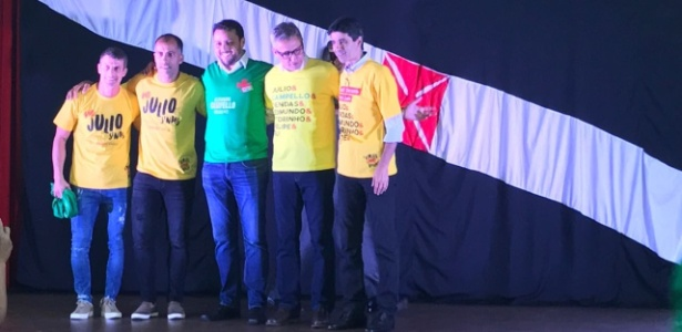Brant e Campello anunciam união ao lado dos ídolos Felipe, Pedrinho e Mauro Galvão - Bruno Braz/UOL