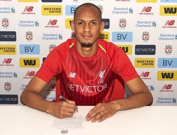 Liverpool usou contrato de mentira na apresentação de Fabinho. Assinatura acontecerá somente em julho - Divulgação/LFC