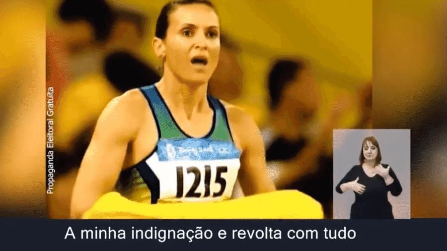 PSB usa imagens de Maurren Maggi nos Jogos Olímpicos de 2008 em campanha de TV - Reprodução de TV