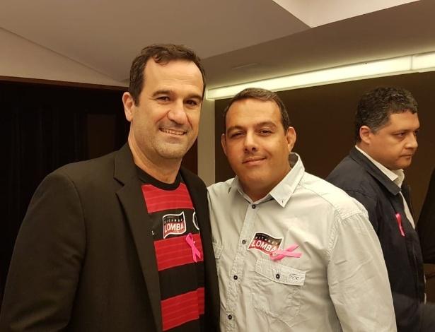 Ricardo Lomba (e) recebeu o apoio do ex-opositor Cacau Cotta na eleição do Flamengo - Vinicius Castro/UOL Esporte