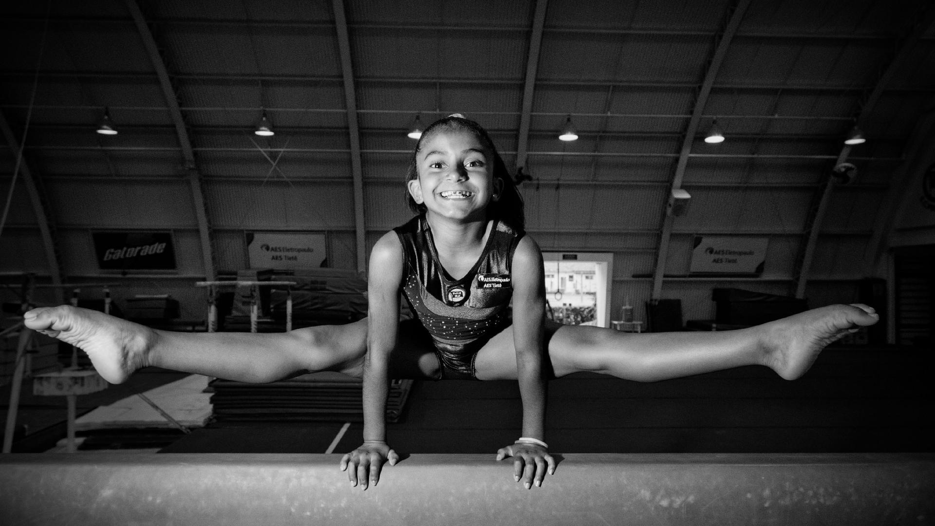 Retrato de Jackelyne aos 10 anos de idade. Foto: Alessandro Shinoda/Folhapress