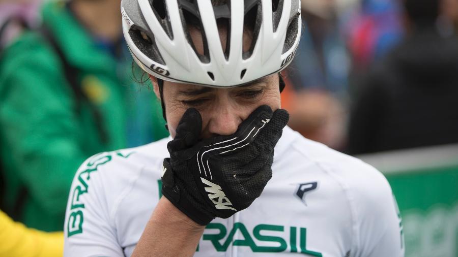 Jaqueline Mourão se emociona após conquista de medalha de bronze pelo moutain bike no Pan de Lima-2019 - Jonne Roriz/COB