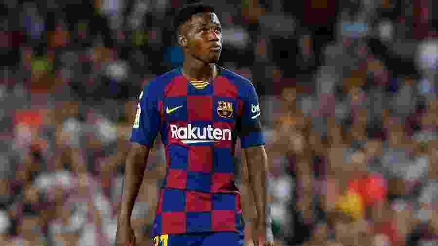 Ansu Fati, durante partida pelo Barcelona - PAU BARRENA / AFP