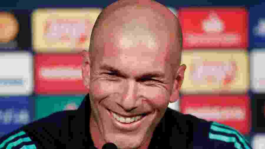 Zidane, durante entrevista coletiva pelo Real Madrid - REUTERS/Benoit Tessier