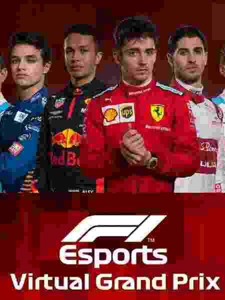 Chamada para a prova virtual da Fórmula 1 - Reprodução