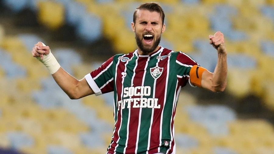 Henrique já foi capitão do Fluminense e hoje está no Belenenses, de Portugal - Lucas Merçon/Fluminense