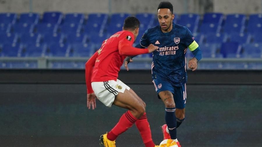 Arsenal, de Aubameyang, e Benfica se enfrentam pela Liga Europa - Danilo Di Giovanni/Getty Images