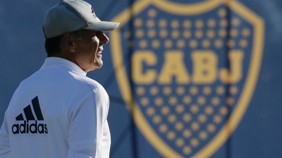 Miguel Ángel Russo acompanha treino do Boca - Divulgação Boca Juniors