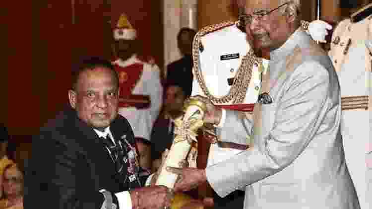 Murlikant Petkar recebe o Padma Shri, uma das maiores honrarias da Índia - Getty Images - Getty Images
