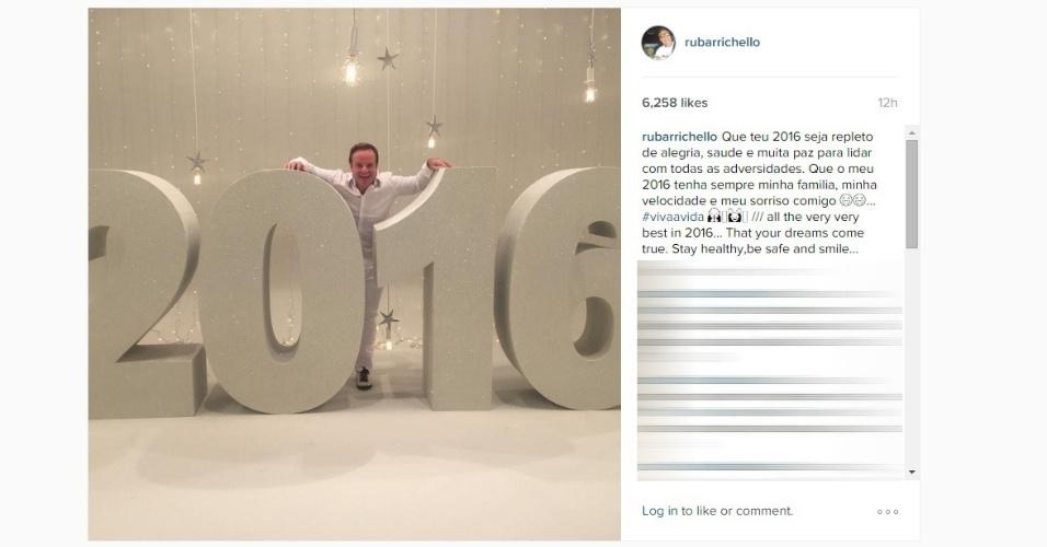 Rubens Barrichello deseja um 2016 repleto de alegria
