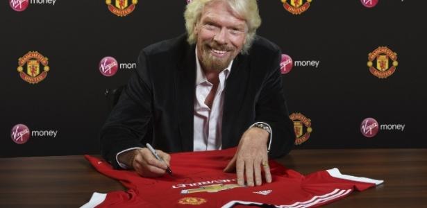 Presidente da Virgin, Richard Branson, participa de acordo com Manchester United - M. United/Oficial