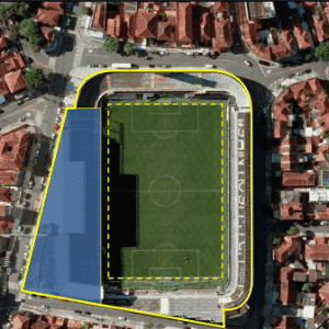 Arena Santos, no projeto, será um complexo multiuso com museu e lojas - Divulgação / Conexão 3