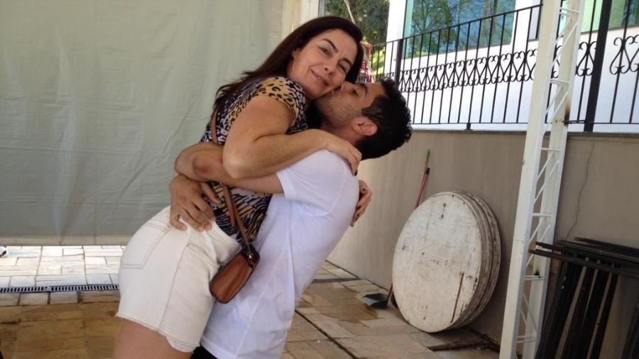 Daniel com a mãe Eliana Correa  - Arquivo Pessoal