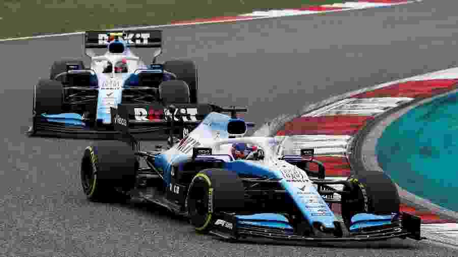 George Russell e Robert Kubica, pilotos da Williams - Thomas Peter/Reuters