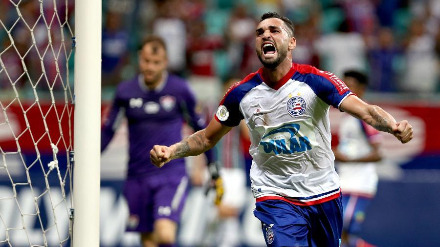 Gilberto tem sete gols na atual temporada pelo Bahia e desperta interesse do Grêmio - Divulgação/Bahia