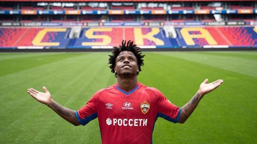 Meia Lucas Santos está emprestado ao CSKA, da Rússia, até o fim desta temporada - Twitter / Lucas Santos