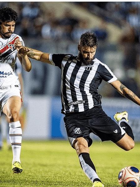 O jogador Rafael Sóbis pelo Ceará - Reprodução