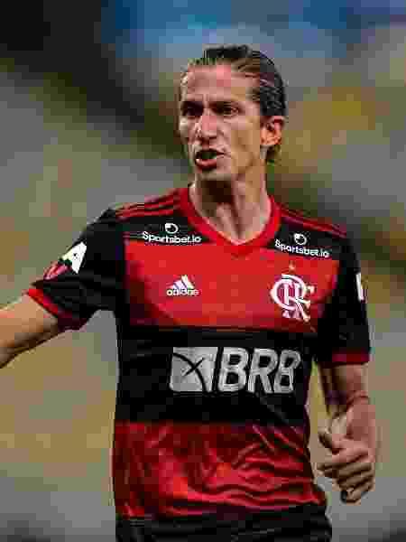 Filipe Luis, lateral do Flamengo, durante partida contra o Boavista - Thiago Ribeiro/AGIF