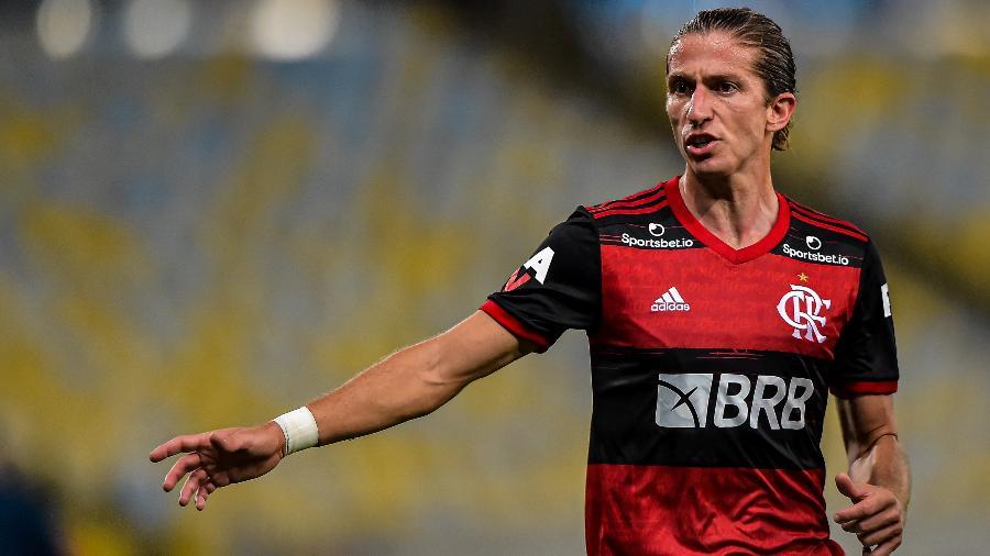 Filipe Luis, lateral do Flamengo - Thiago Ribeiro/AGIF