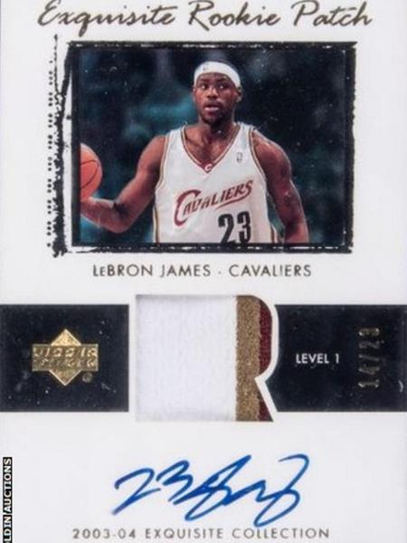Cartão de negociação de LeBron James ainda novato foi leiloado por R$ 9,7 milhões e bateu recorde  - Divulgação Goldin Auctions