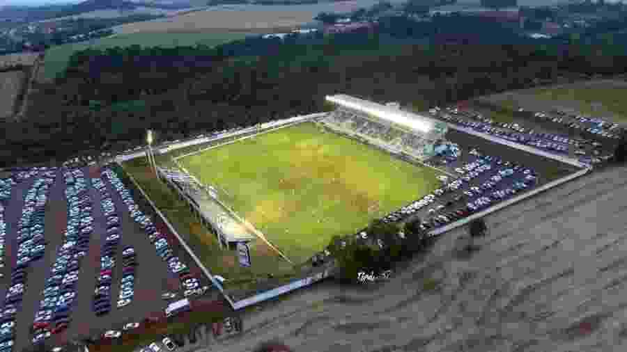 Estádio Alviazul chegou a ter luz cortada por dívida e apareceu em relação de leilão durante a quarentena - Divulgação/CE Lajeadense