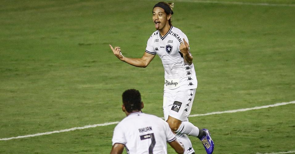 Honda comemora o gol do Botafogo contra o Sport