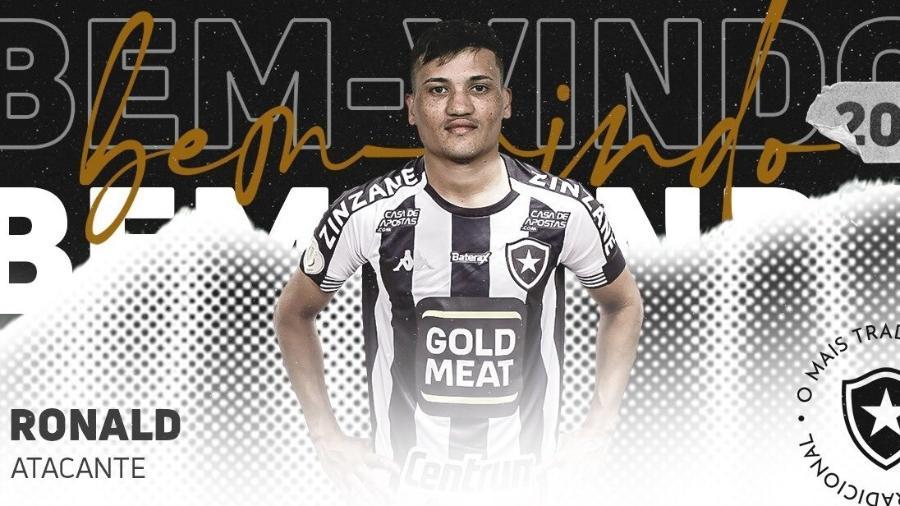 Ronald, novo atacante do Botafogo   - Reprodução/Twitter