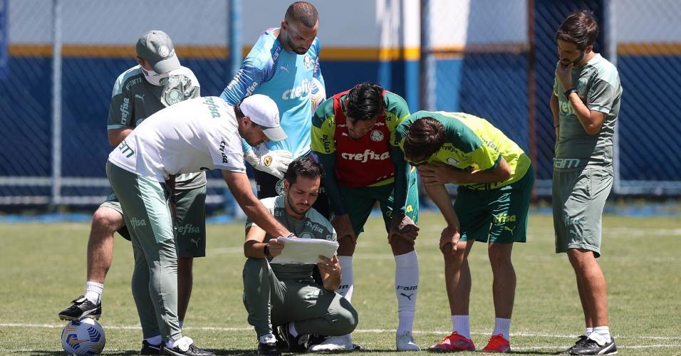 Palmeiras faz último treino antes de encarar o Flamengo, pela Supercopa do Brasil
