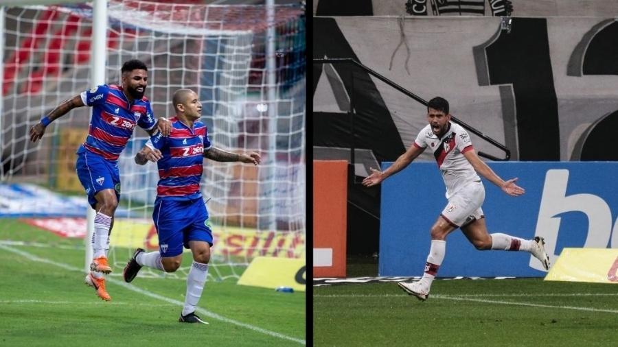 Atlético-GO e Fortaleza venceram todas as suas partidas no Brasileirão  - Pedro Chaves/AGIF e Ettore Chiereguini/AGIF