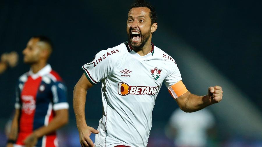 Nenê comemora gol do Fluminense contra o Cerro Porteño pela Libertadores - Getty Images