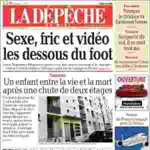 """La Dépêche du Midi (Toulouse, França): """"Sexo, dinheiros e vídeo: o lado baixo do futebol"""" - Reprodução"""