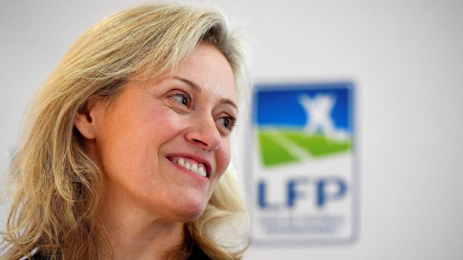 Nathalie Boy De La Tour, nova presidente da Liga Profissional Francesa de Futebol (LFP) - Franck Fife/AFP